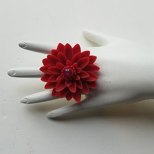 LILY POND RING RED NEW